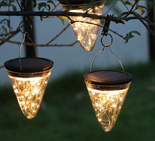 Load image into Gallery viewer, Hanging Outdoor Solar Cone Light