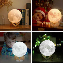 Load image into Gallery viewer, Personalised 3D Printing Words 10 cm LED Moon Lamp