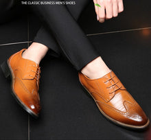 Load image into Gallery viewer, Business Casual Brogue Shoes