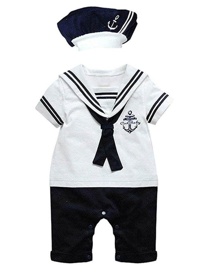 Baby Boy Sailor Romper Outfit