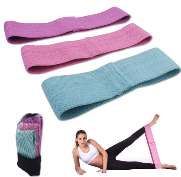 3 Pcs Fabric Booty Resistance Bands