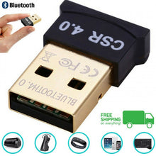 Load image into Gallery viewer, Bluetooth CSR 4.0 Wireless Tiny Receiver