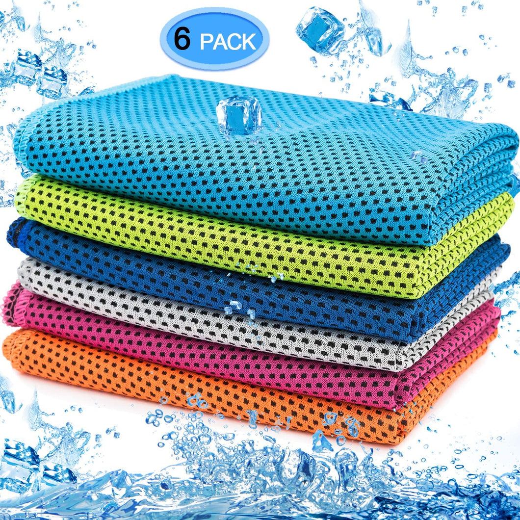 Instant Cooling Towel-Random Colour 6 pack