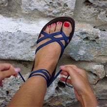 Load image into Gallery viewer, Flat Cross Strap Women Sandals