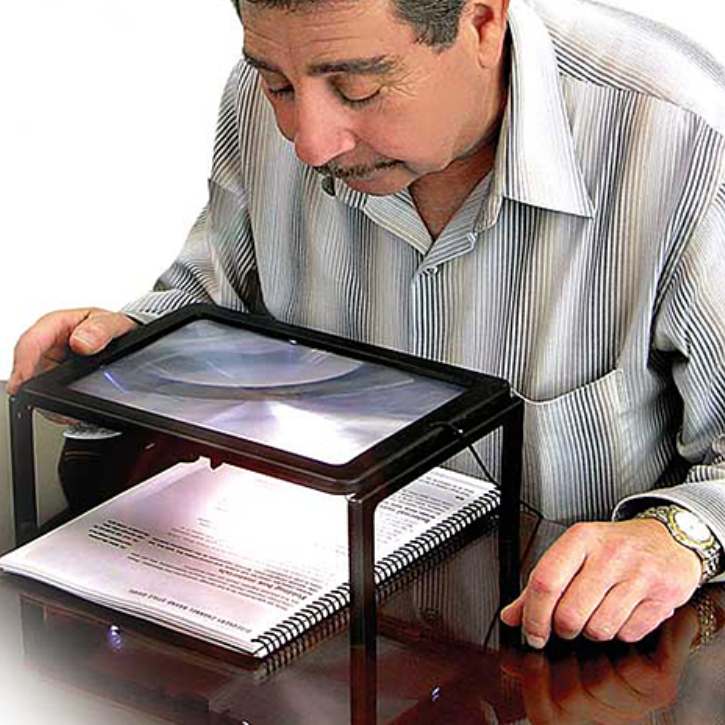 Full Page Magnifier with LED Light Holder