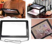 Load image into Gallery viewer, Full Page Magnifier with LED Light Holder