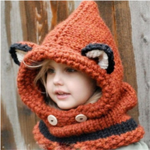 Load image into Gallery viewer, Hat Hooded Scarf Knitted Cap