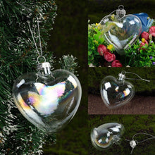 Load image into Gallery viewer, Heart Shaped Christmas Ornaments