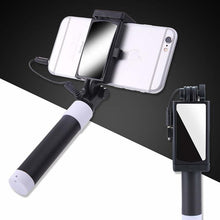 Load image into Gallery viewer, Button Wired Silicone Handle Monopod Mini Selfie Stick