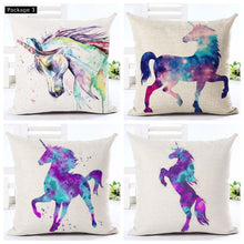 Load image into Gallery viewer, Unicorn Cusion Pillow Case Cover-set of 4
