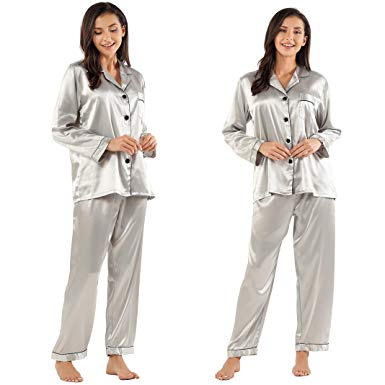 Women's Silk Pajamas Set
