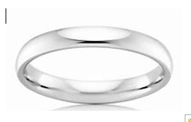 Ladies White Gold Wedding Ring