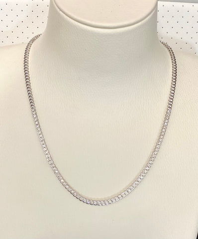 18ct White Gold Diamonds Set Collier