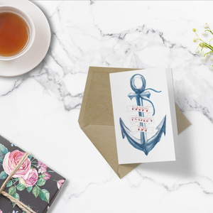 Luxe Greeting Card - Mother's Day - Nautical Anchor