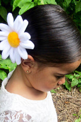 Plush flower hair clip