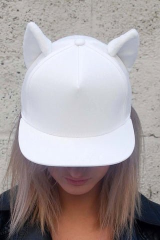 Kitty ears snapback