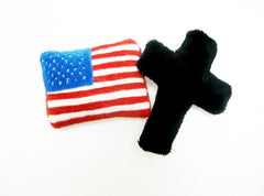 Church cross plush pin black