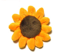 Sunflower plush pin