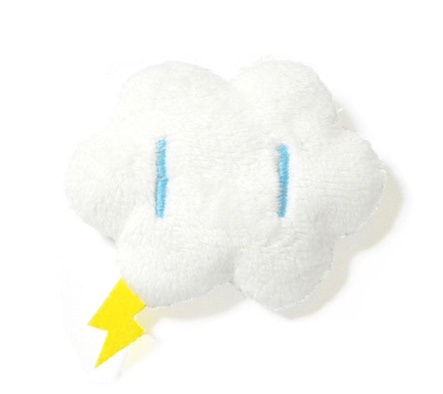 Cloud plush pin