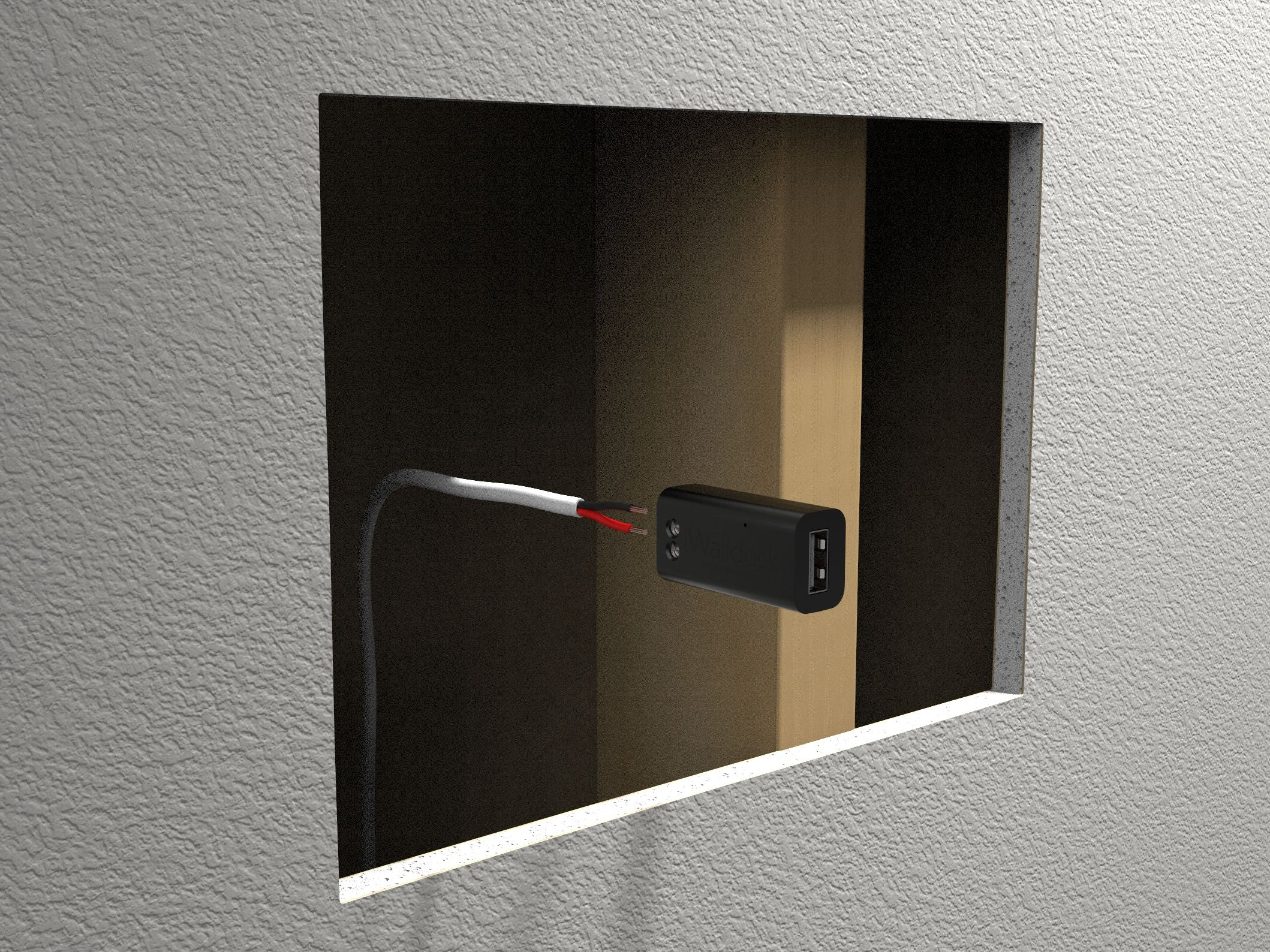 SimpliDock for iPad Installation 2-Wire USB Charging Inside Wall