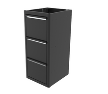 "Load image into Gallery viewer, 16"" Base Cabinet with Three Finger Slam Drawers"