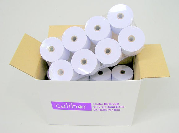 Single Ply Bonded Paper 76x76 24 Rolls/Box