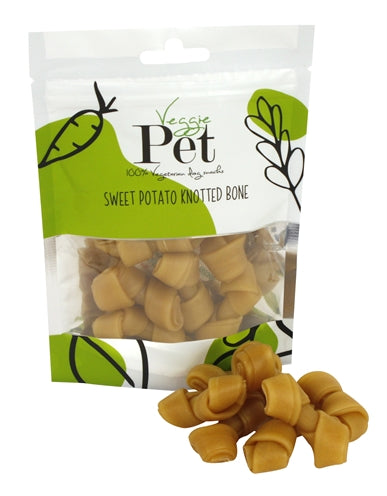 Veggie Pet Sweet Potato Knotted Bone 100 GR