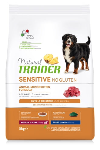 Natural Trainer Dog Adult Medium / Maxi Sensitive Lamb 3 KG