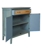 Load image into Gallery viewer, Orlando Store™ - Tonia - Credenza 1 Cassetto 2 Sportelli Antic Green Paglia di Vienna
