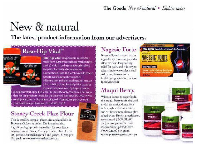 Improve your sleep by relieving joint and muscle pain with Rose-Hip Vital- Nature and Health (May, 2012)