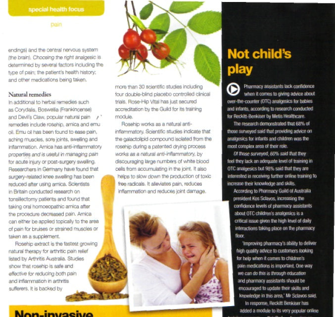 Post Script Special Health Report featuring the benefits of Rosehip (April, 2012)