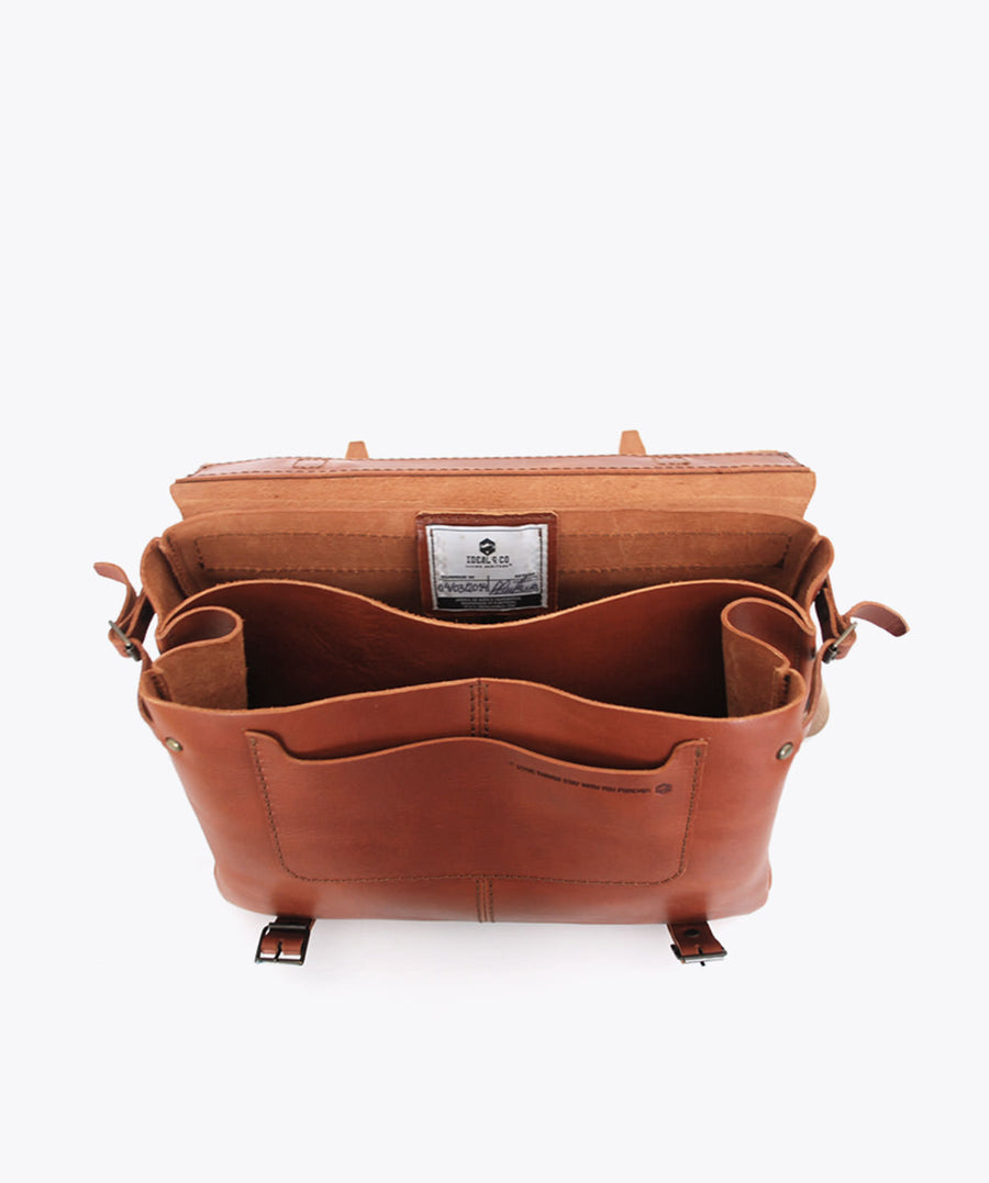 Ideal&co. Messenger bag with leather. Messenger bag with leather straps. backpack. shoulder bag. handbag.