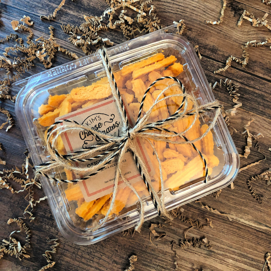 One Pound Container of Cheese Straws for Gifting