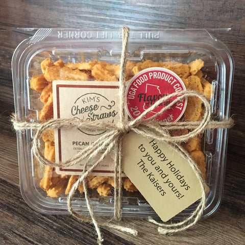 CUSTOM TAG Pound Container of Cheese Straws for Gifting