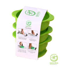 Gecko Grippers - Super Suction Bowls (High Value, Pack of 3) PLUS FREE Sticky Place Mat