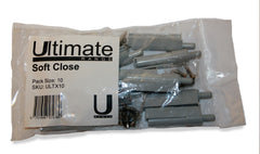 Pack of 10 soft close cupboard door closures