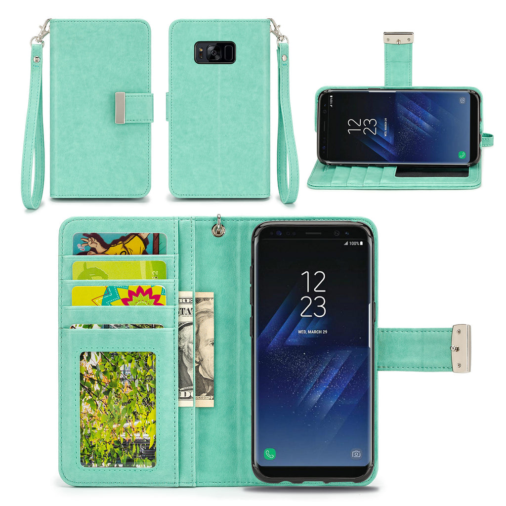 Samsung Galaxy S8 Wallet Phone Case Flip Cover