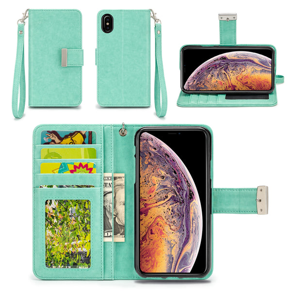 Apple iPhone XS Max Wallet Phone Case Flip Cover