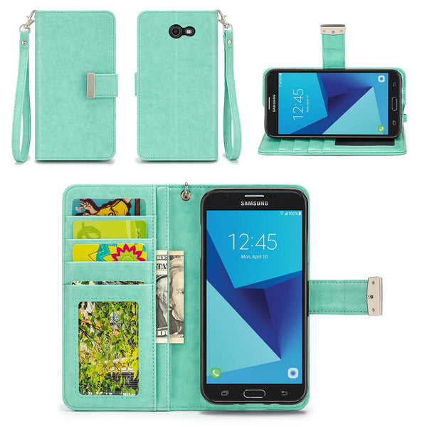 Samsung Galaxy J7 Perx Wallet Phone Case Flip Cover