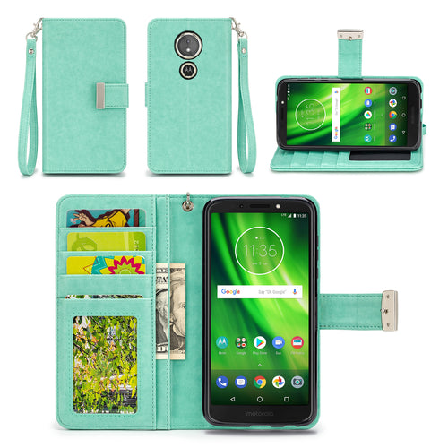 Motorola Moto G6 Play / Forge Wallet Phone Case Flip Cover
