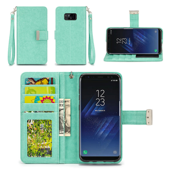 Samsung Galaxy S8 Plus Wallet Phone Case Flip Cover