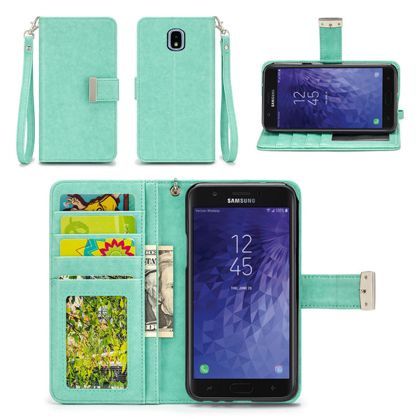 Samsung Galaxy J7 Refine / J7 Aero / J7 Eon Wallet Phone Case Flip Cover