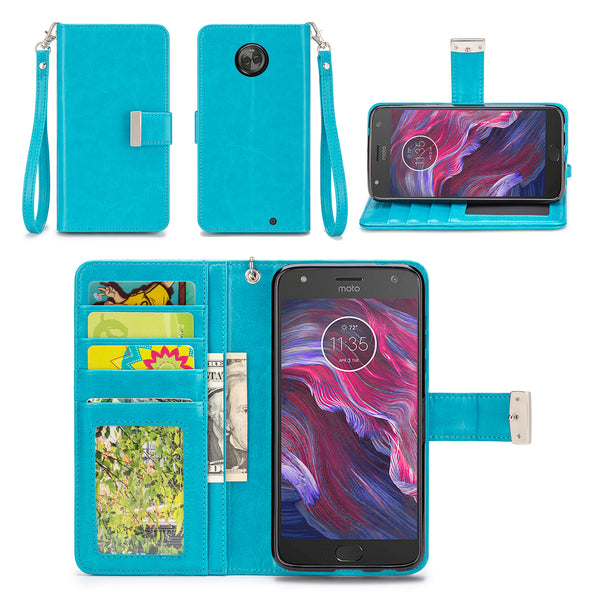 Motorola Moto X4 Wallet Phone Case Flip Cover