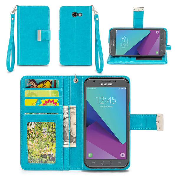 Samsung Galaxy J3 Luna Pro Wallet Phone Case Flip Cover