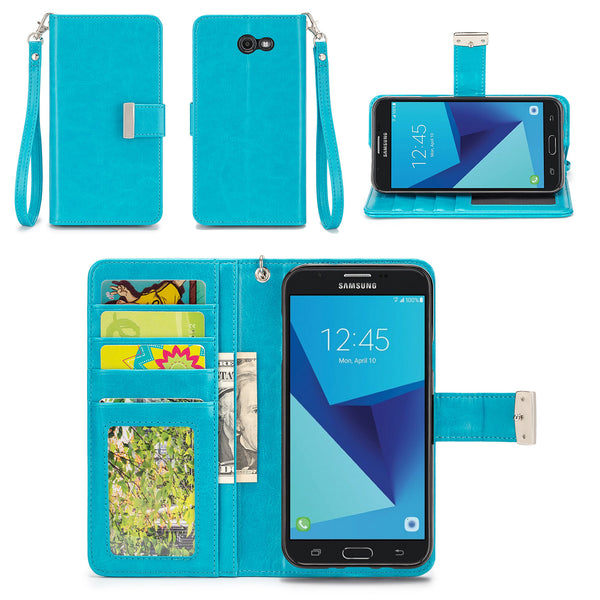 Samsung Galaxy J7 V Wallet Phone Case Flip Cover