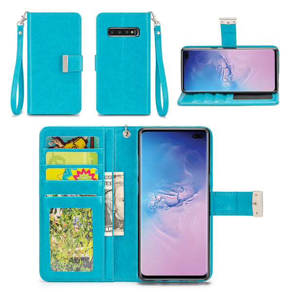 Samsung Galaxy S10 Plus Wallet Phone Case Flip Cover