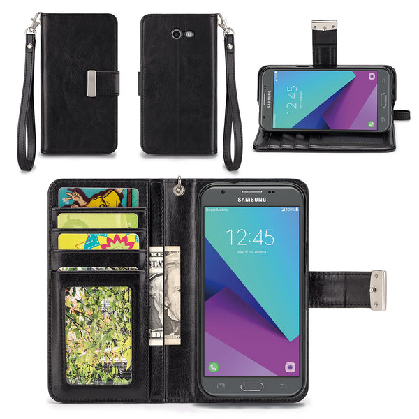 the latest 23428 b5dff Samsung Galaxy J3 Eclipse Wallet Phone Case Flip Cover