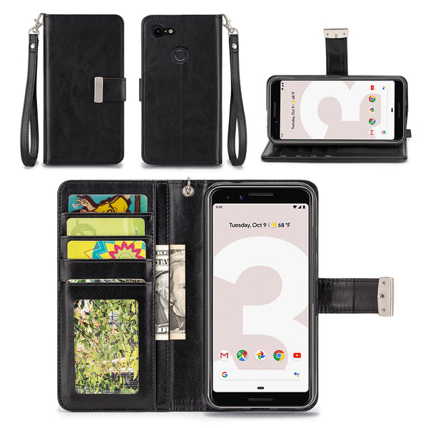 Google Pixel 3 Wallet Phone Case Flip Cover