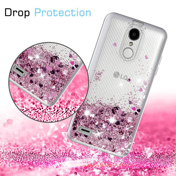 LG Aristo 2 Waterfall Glitter Phone Case Cover