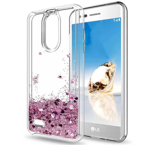 LG K8 (2018) Waterfall Glitter Phone Case Cover